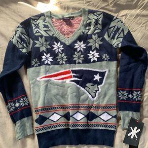 NWT Patriots holiday sweater